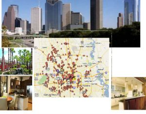 map of Houston apt communities